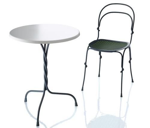 """Vigna"" chair and table"