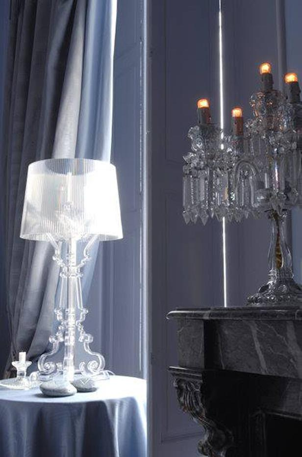 bourgie by kartell 14 designers reimagine the classic lamp oikos blog. Black Bedroom Furniture Sets. Home Design Ideas