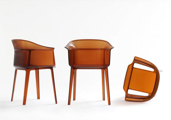 Papyrus chair by kartell linear and well defined oikos blog - Les freres bouroullec ...