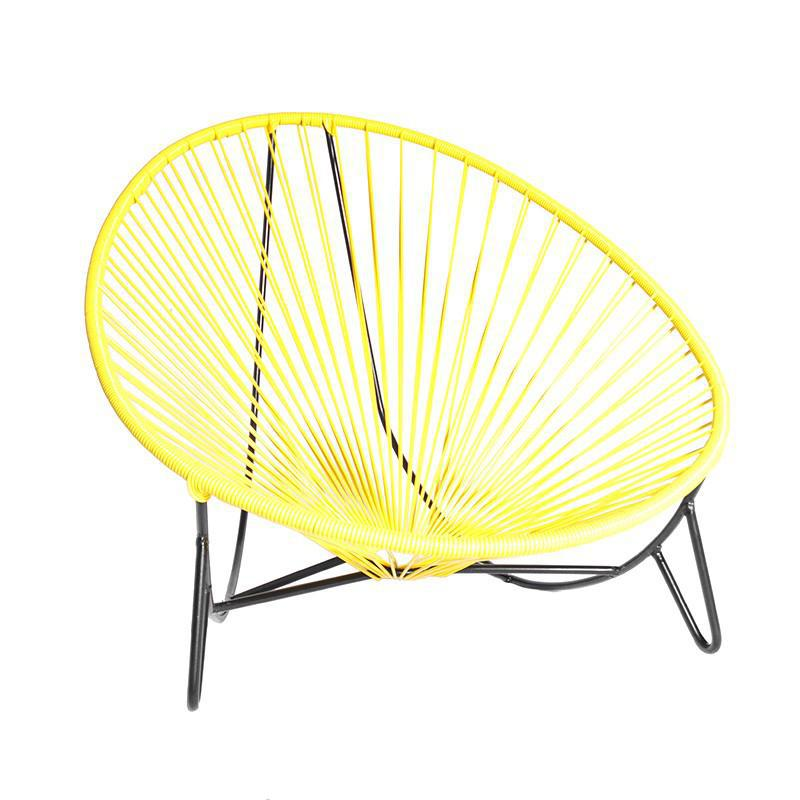 tulum lounger yellow