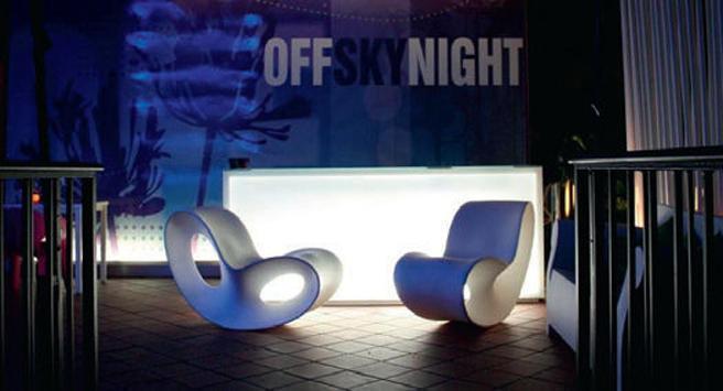 Original design polyethylene fireside chair by Ron Arad